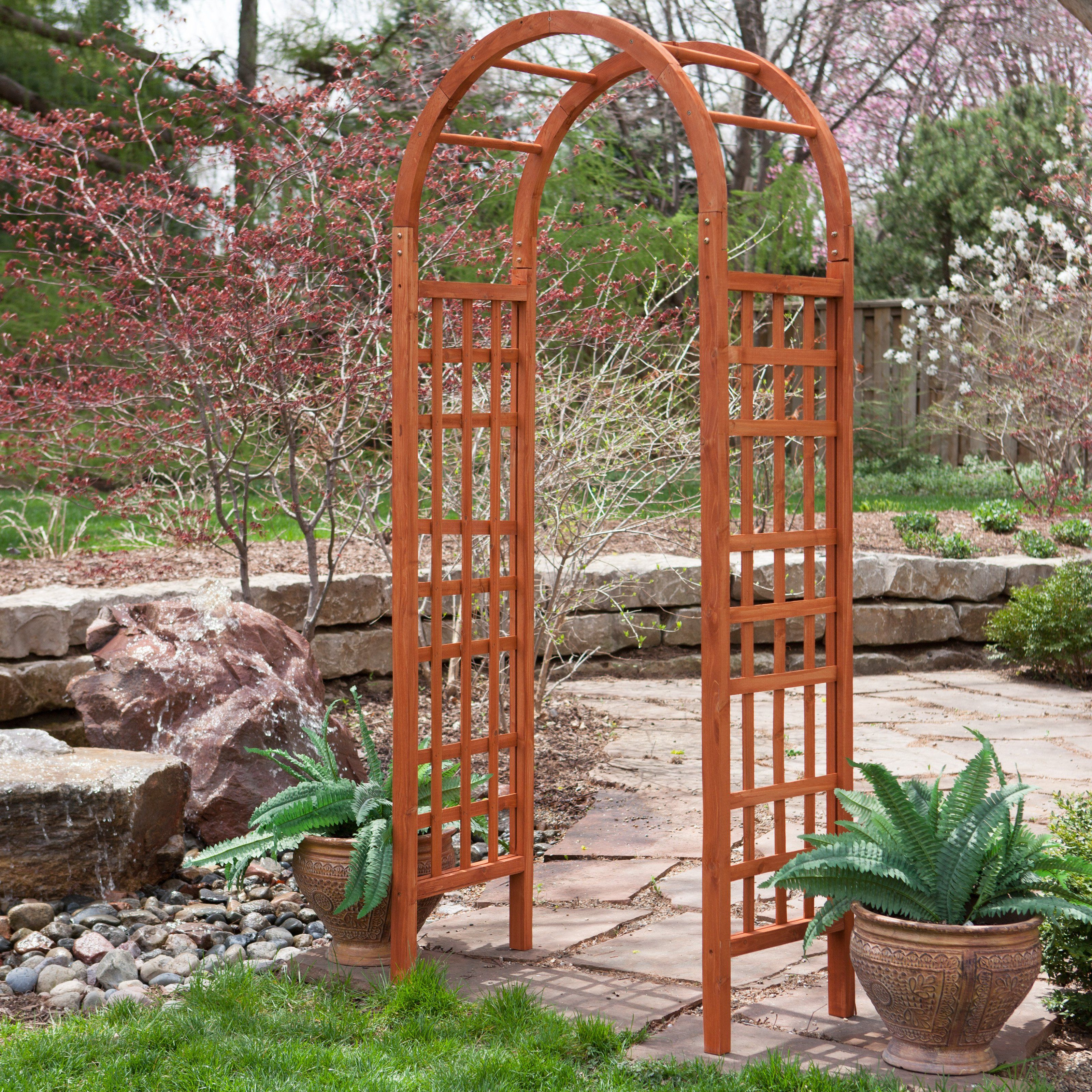 Have to have it Coral Coast 7 5 ft Arched Wood Arbor $74 01