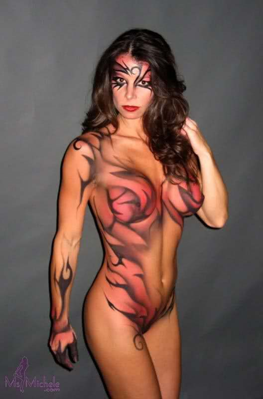 sexy bodypaint nude girls