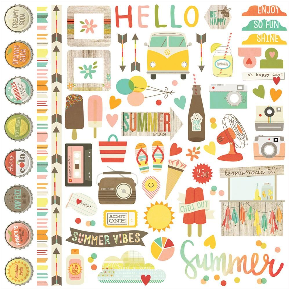 Simple stories cardstock stickers 12 x12 samolepky for Story planner free