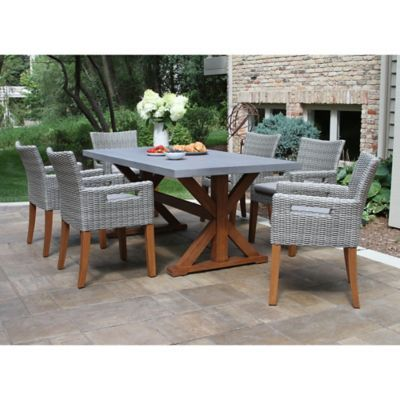 Outdoor Interiors Composite 7 Piece Outdoor Dining Set With Chairs