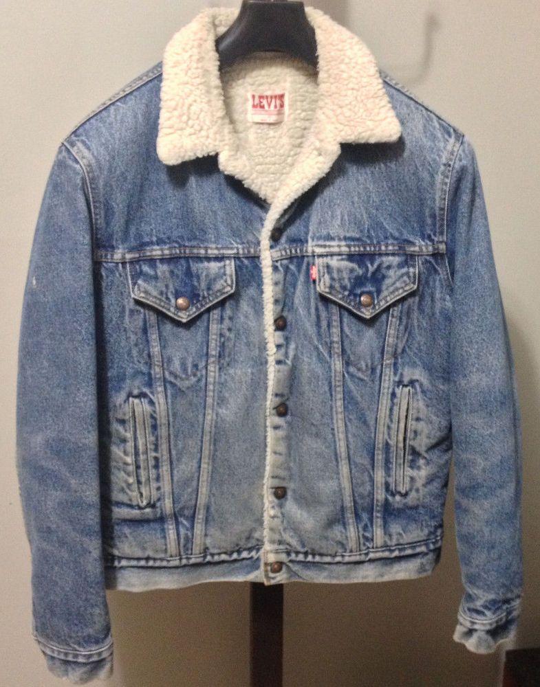 Levi S Vintage Men S Small 60 Jacket Available On Ebay Com Long Coat Men Denim Jacket Men Western Denim Shirt