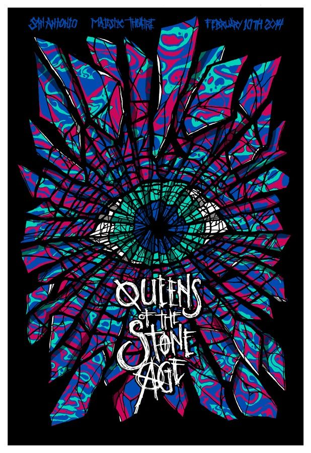 INSIDE THE ROCK POSTER FRAME BLOG: Brad Klausen Queens of the Stone ...