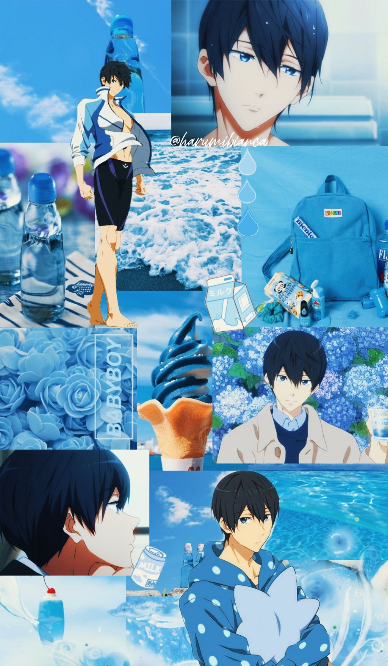 Haruka Nanase Wallpaper Free Iwatobi Aesthetic In 2020 Anime Wallpaper Phone Anime Wallpaper Iphone Anime Wallpaper
