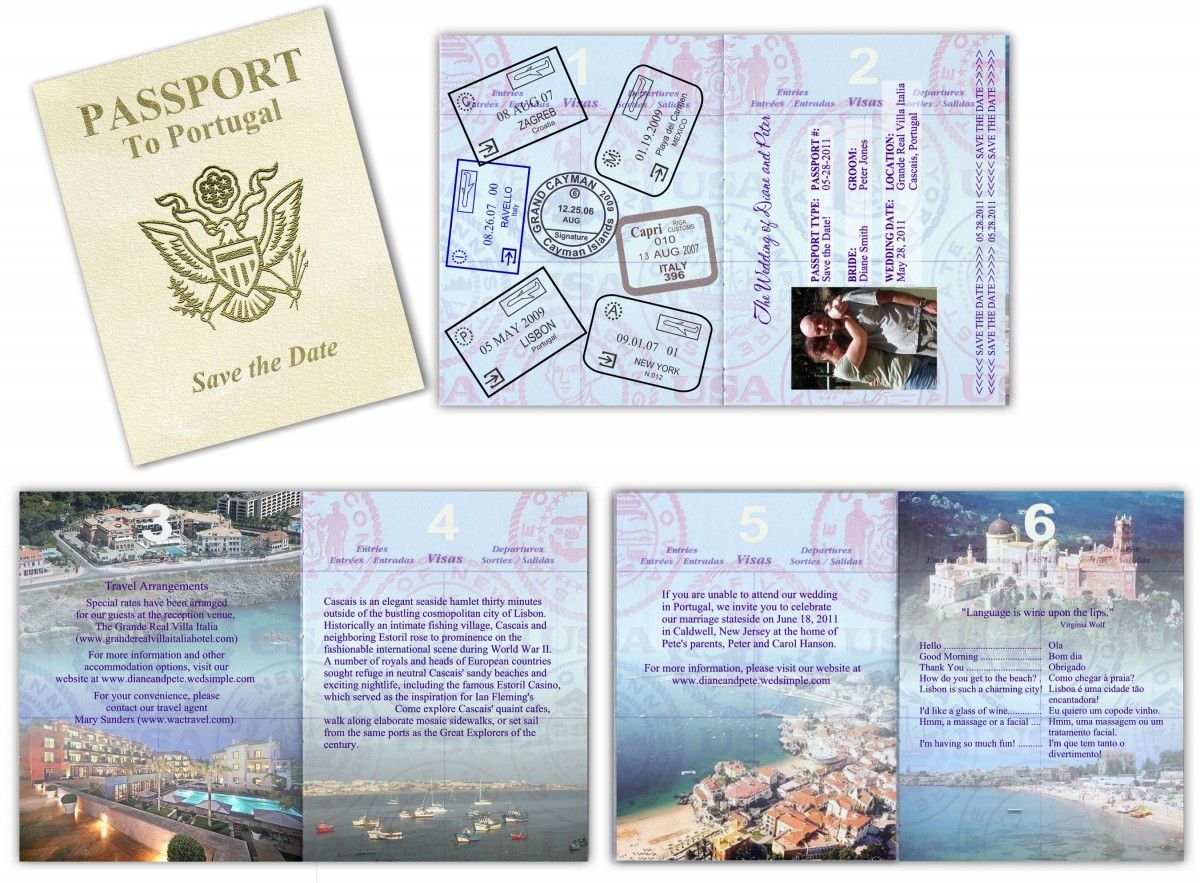 Passport wedding invitations do it yourself the bucket list passport wedding invitations do it yourself solutioingenieria Images