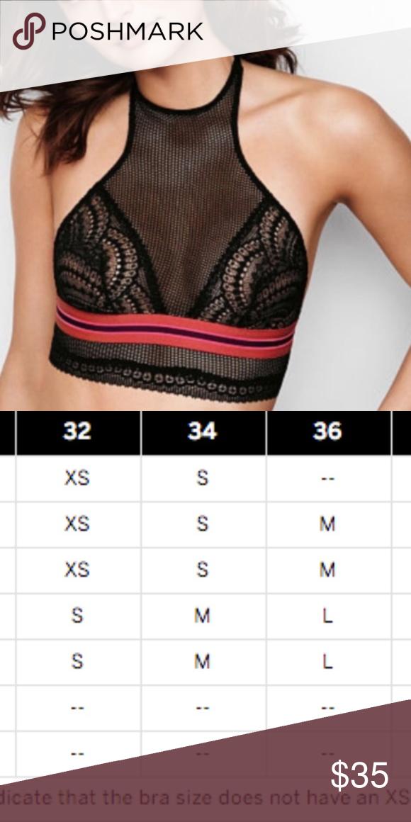 Vs lace bralette small size chart above also re posh rh pinterest