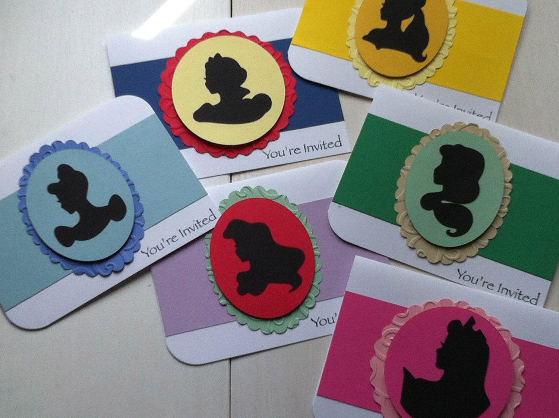 Disney Princess Party Invitations. $24.00, via Etsy.
