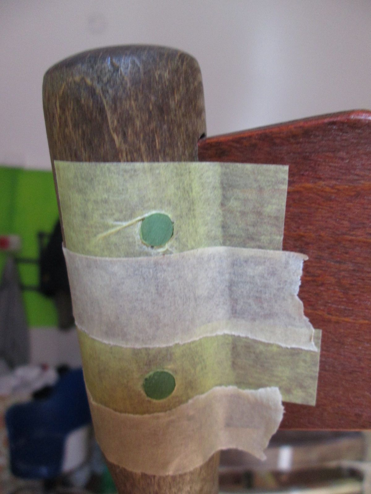 sedia thonet di fine 800: coloritura delle spine