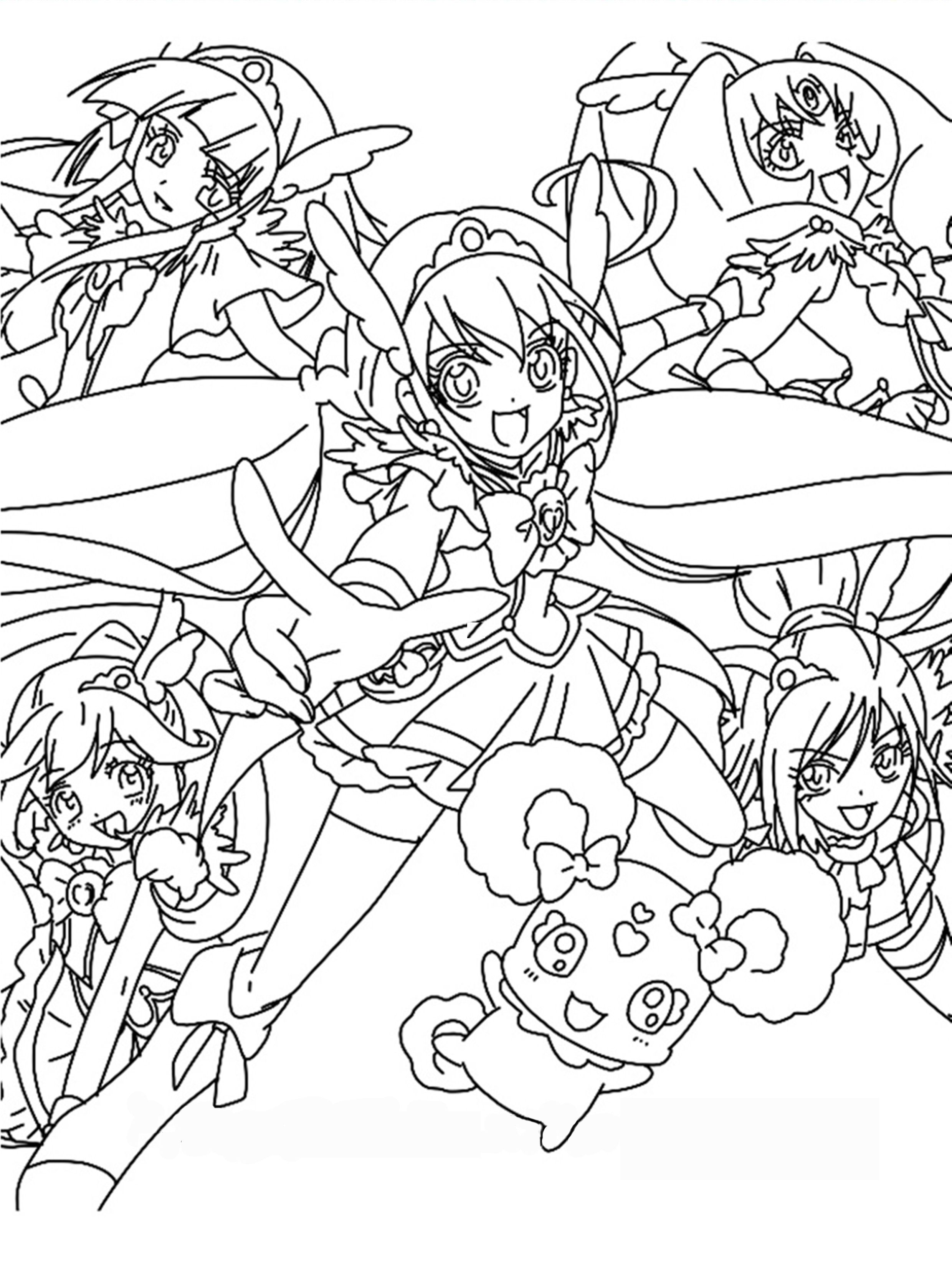 smile precure coloring pagescoloring