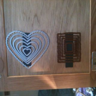 Another cool way to store your framelits. Magnet snailed tote inside of my craft cupboard.