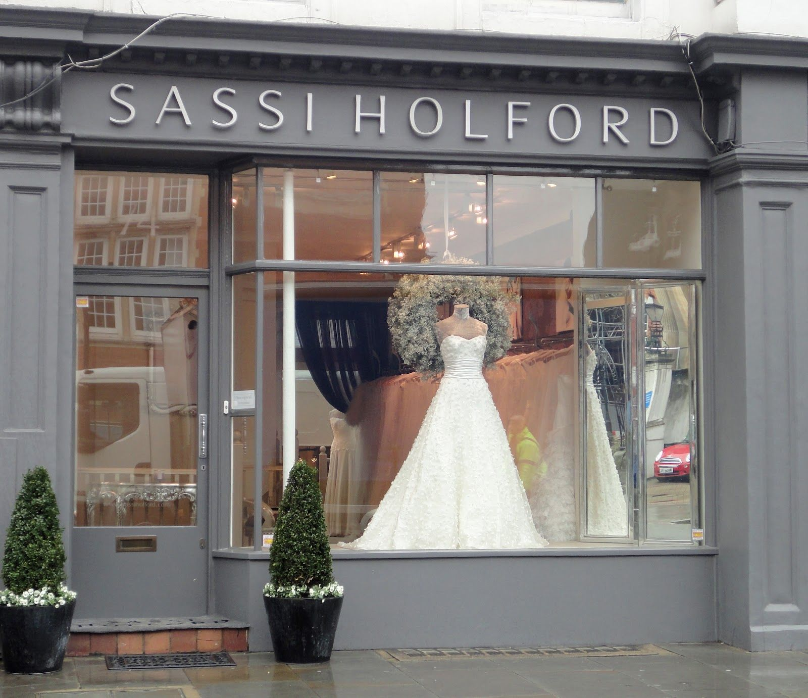 This is in London, but it definitely works for the wedding planning business (called Marry Me) where my heroine, Julia, works. #bridalshops