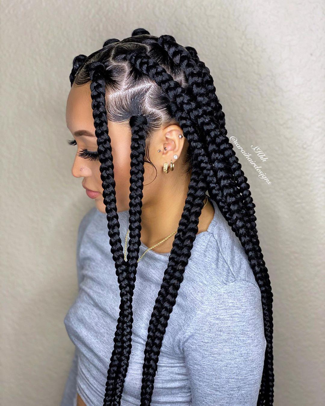 Sarai Hair Designs On Instagram Model Riiiiaahh Install Saraihairde In 2020 Black Girl Braided Hairstyles African Braids Hairstyles Braids Hairstyles Pictures