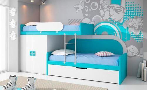Muebles infantiles literas camas dobles excelente - Camas infantiles dobles ...