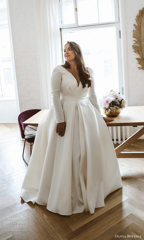 Olivia Bottega 2021 Plus Size Wedding Dresses Wedding Inspirasi Plus Size Wedding Dresses With Sleeves Plus Wedding Dresses Plus Size Wedding Gowns [ 1500 x 900 Pixel ]