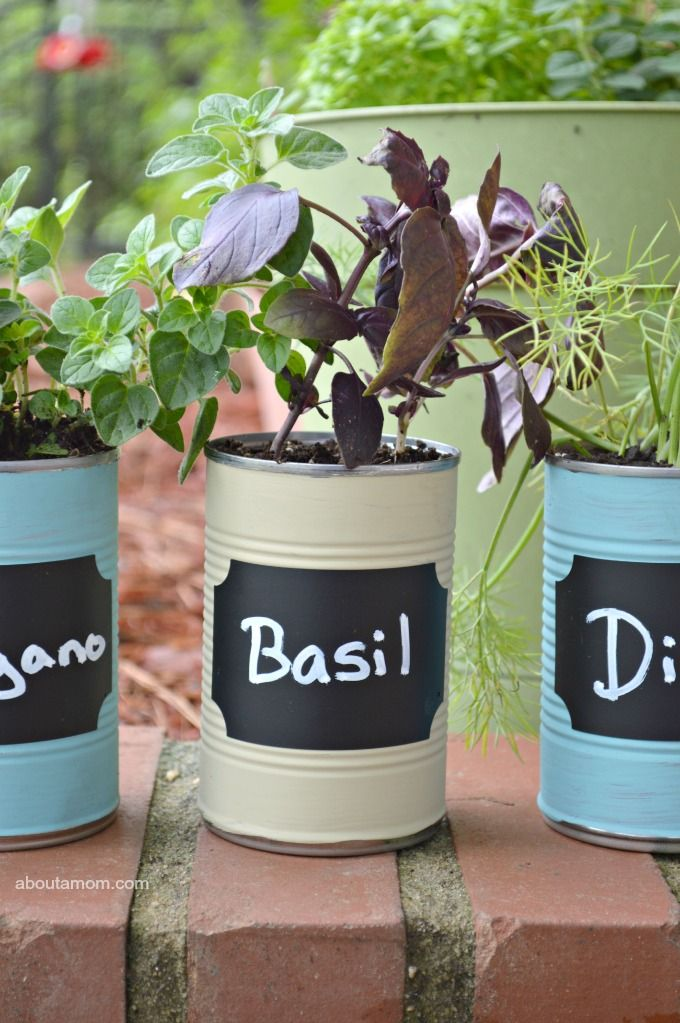 This DIY Kitchen Herb Garden Is A Great Upcycled Gardening Project. Plus,  It Would