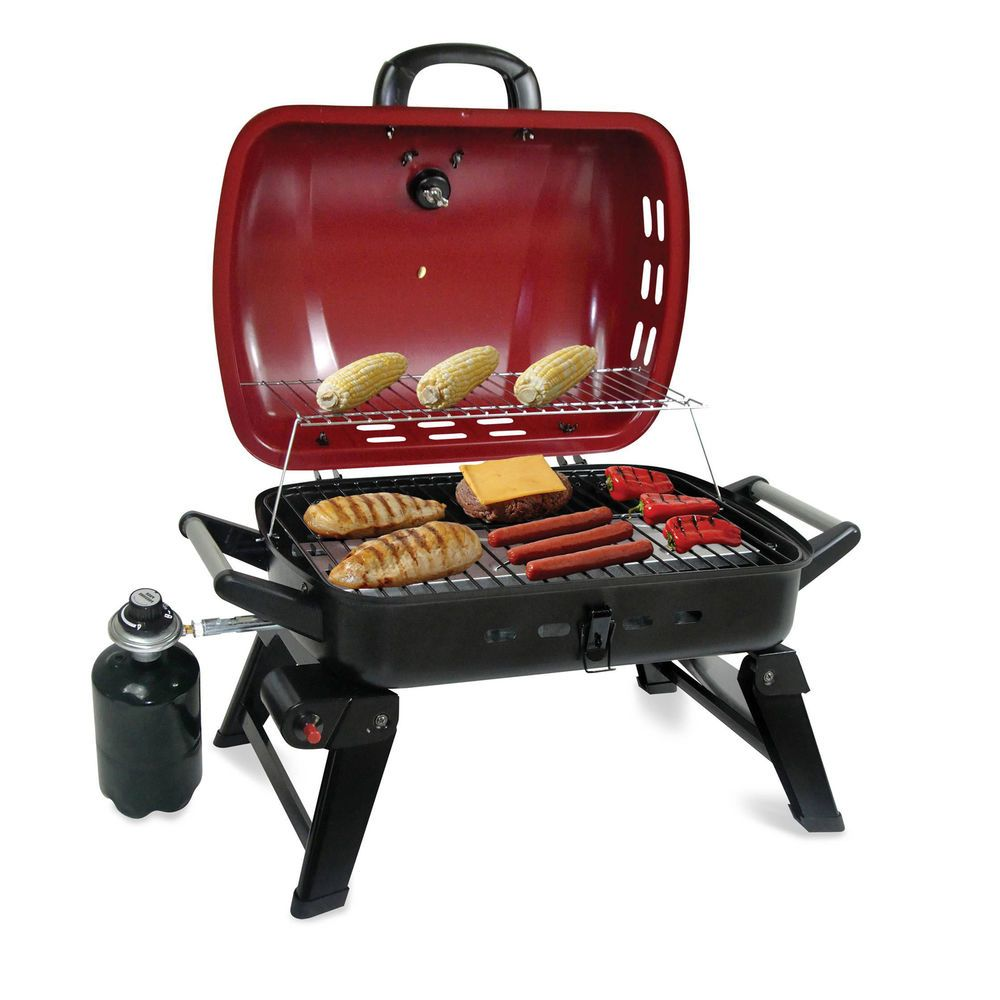 Portable Compact Gas Grill 20 Stainless Steel Burner Outdoor Bbq Cooking Picnic Outdoor Bbq Gas Grill Backyard Grilling