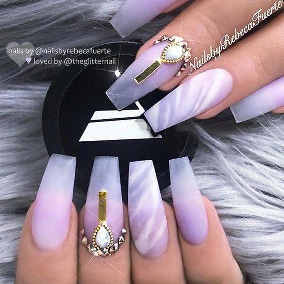 Photo of 50 Awesome Marble Coffin Nail Designs
