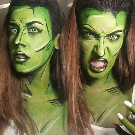 Makeup Artist Turns People Into Living Superheroes Comic Book Makeup Superhero Face Painting Hulk Costume