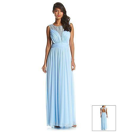 Bee Darlin\' Beaded Plunging Neckline Dress | Elder-Beerman | Prom ...