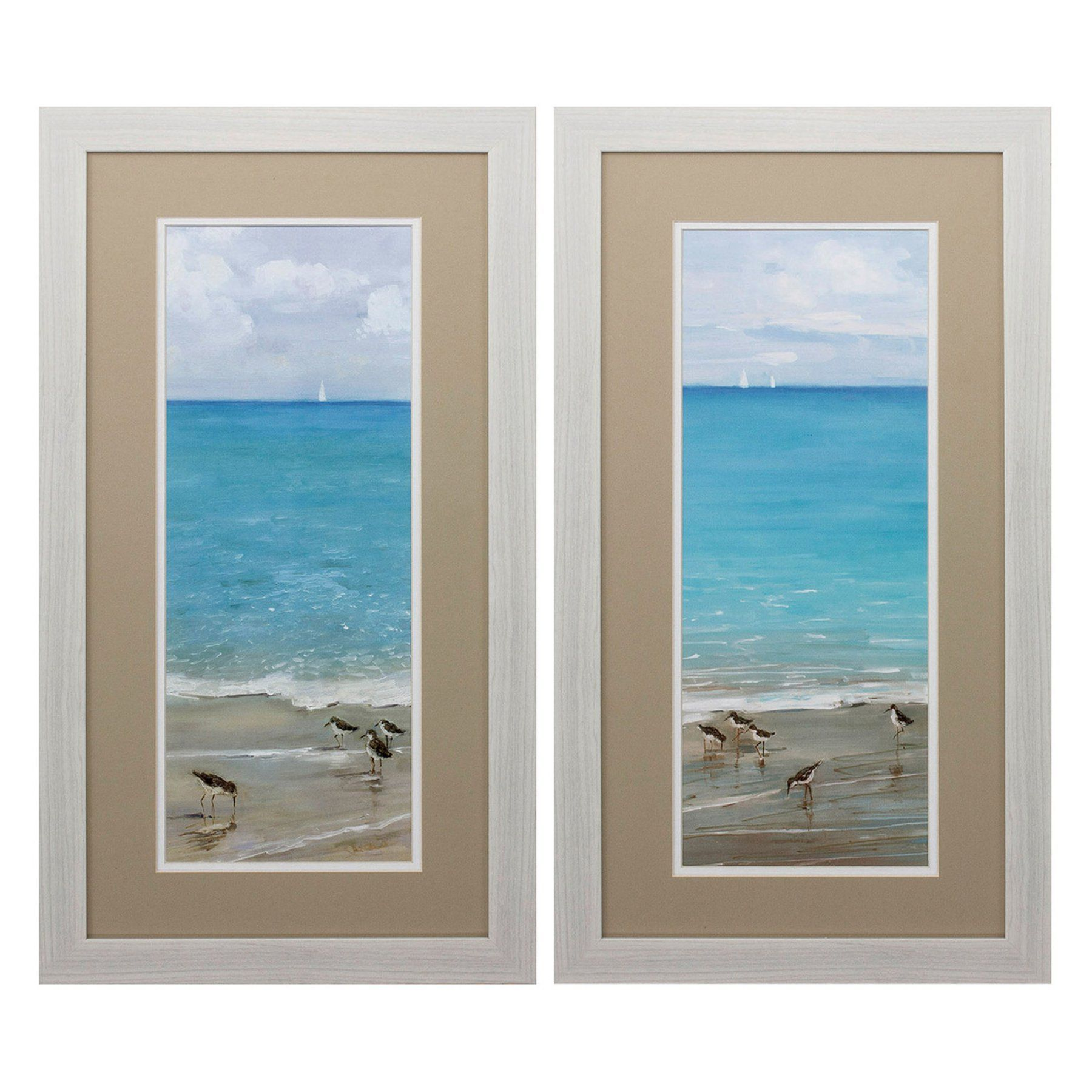 Propac Images Brunch On The Beach Framed Wall Art - Set of 2 - 2851 ...