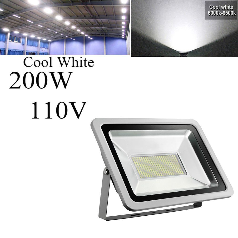 Led Flood Light 200w 110v Cool White Outdoor Landscape Garden Yard Spotlight Smd Flood Lights Led Flood Outdoor Landscaping