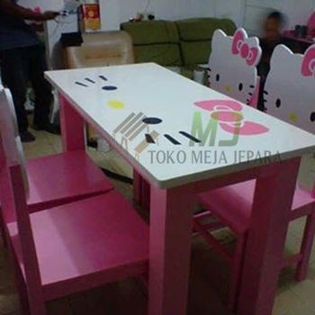 model meja makan hello kitty minimalis | meja jepara