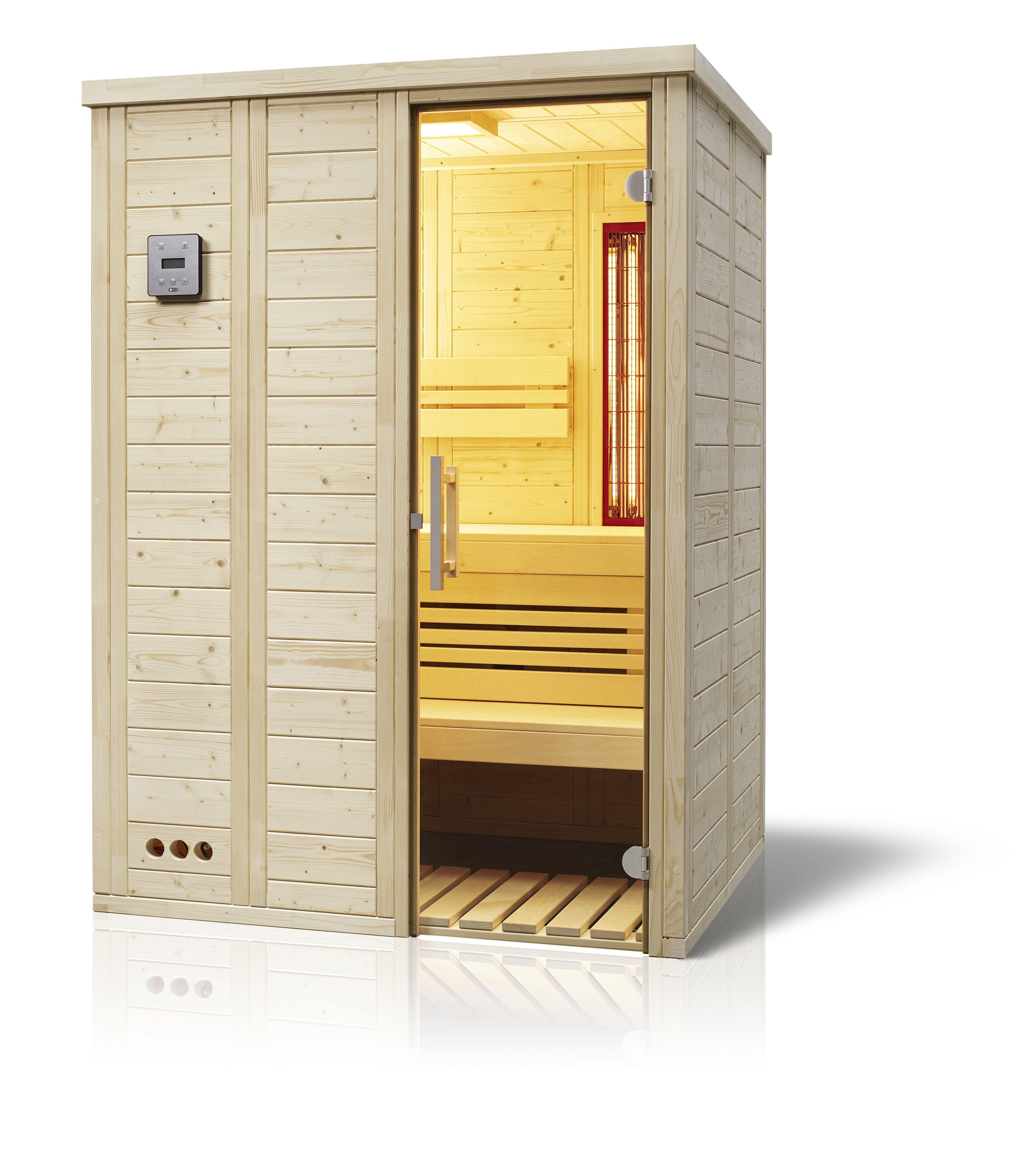 Sauna Vitalis 148 Complete Schliessfacher Saunaofen Moderne Turgriffe