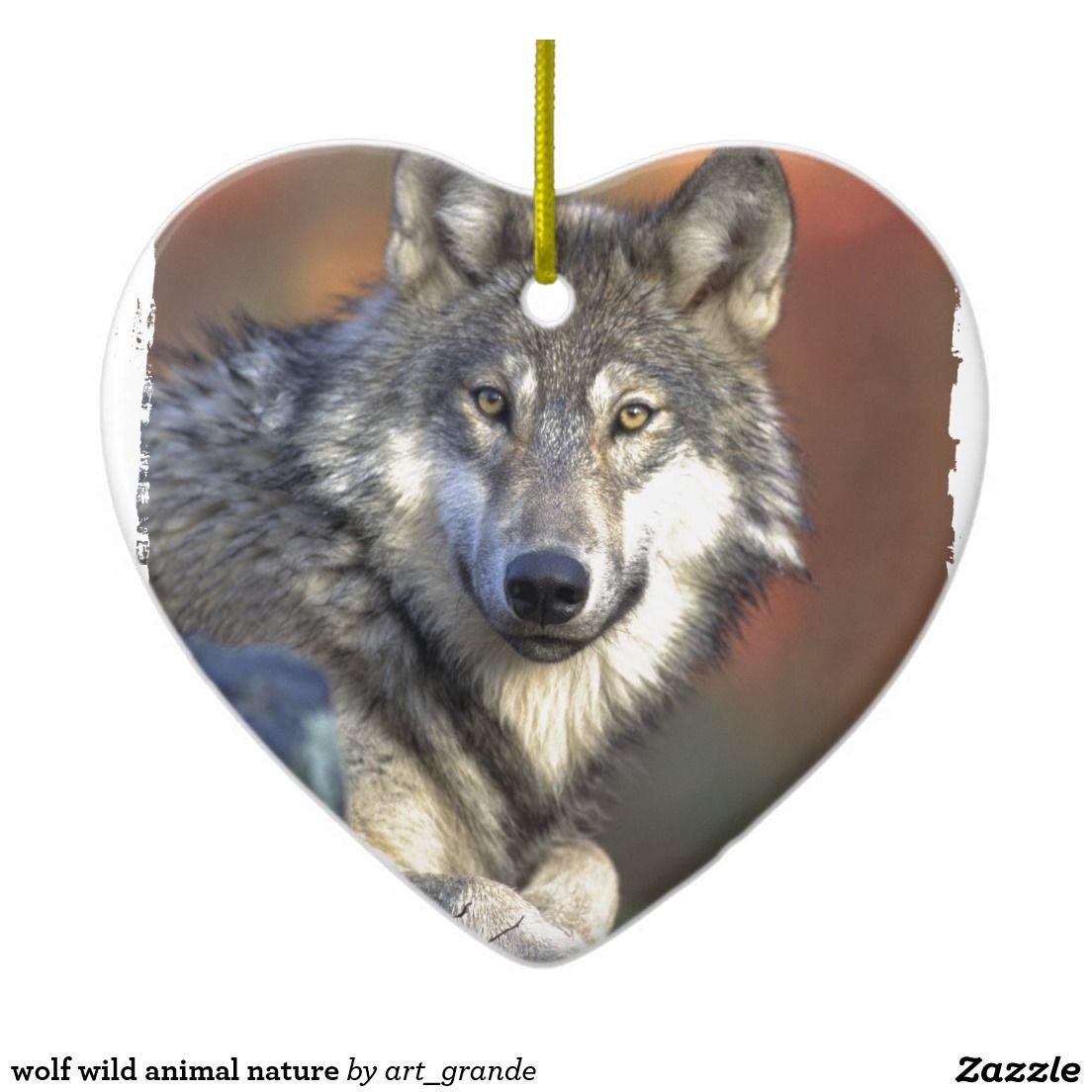 Wolf Wild Animal Nature Ceramic Ornament