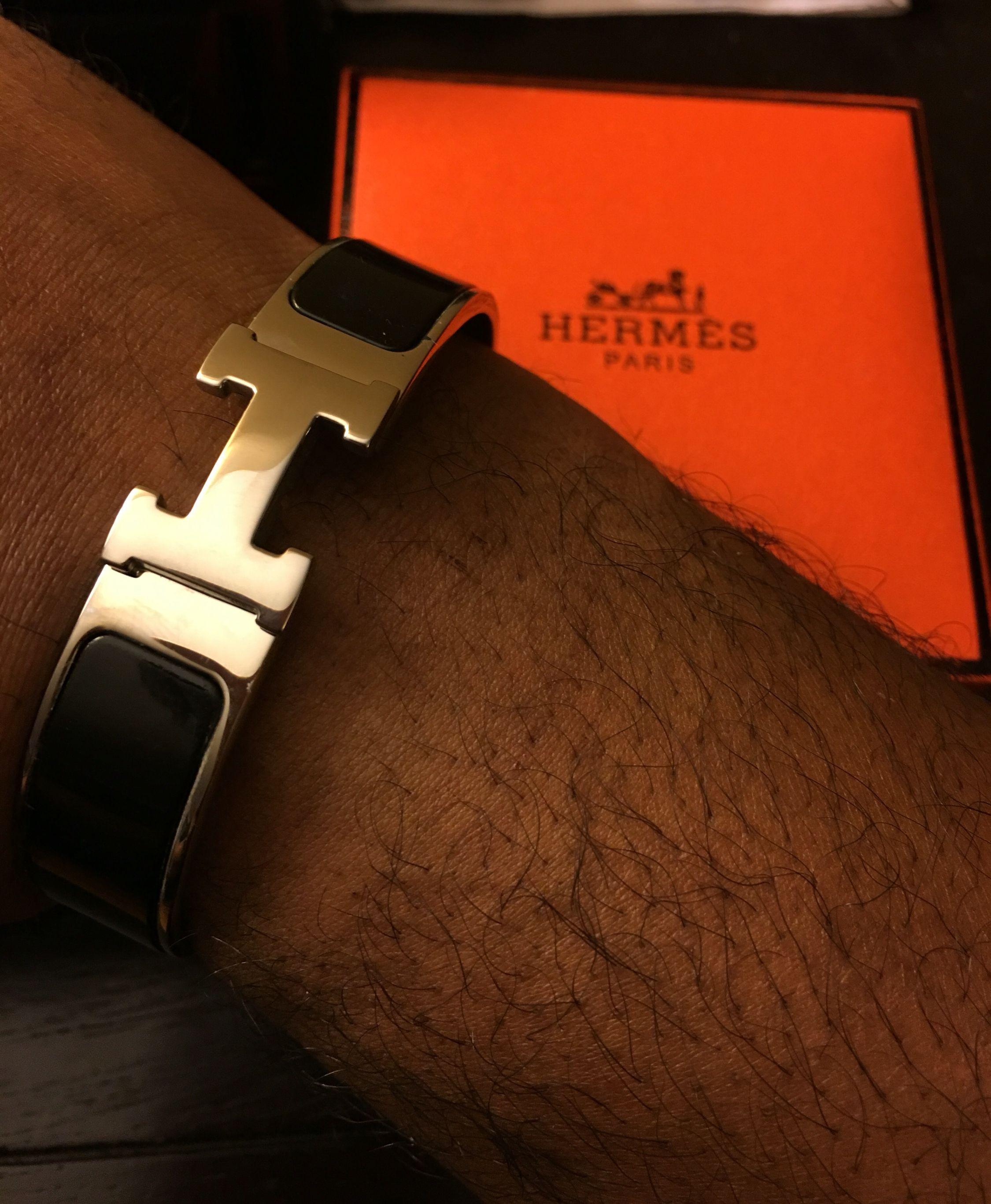 a58c4edbca6e Hermes Mens Wide Bracelet Pulsera Hermes