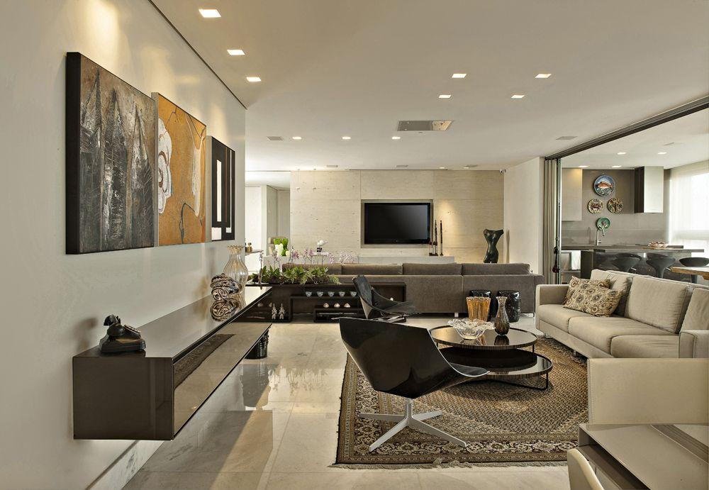 Em total integra o decora es para sala de estar for Sala de estar marron