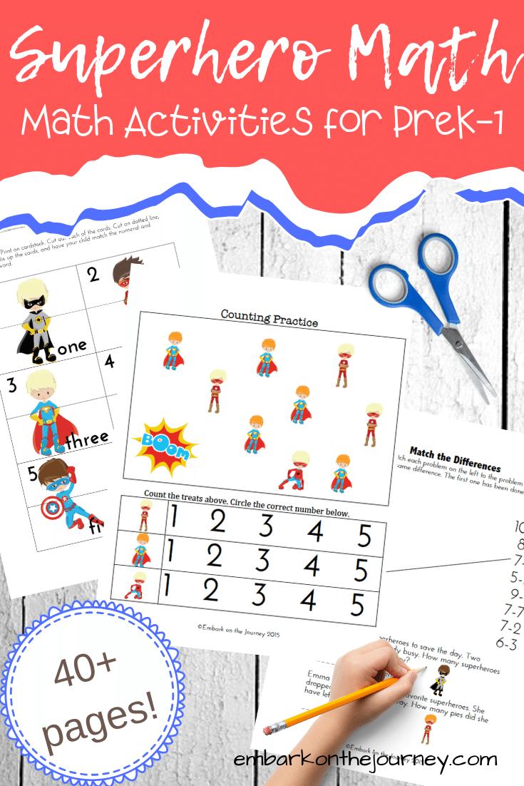 Early Learning Printable Superhero Math Activities Superhero Math Kids Math Worksheets Superhero Math Activities [ 1102 x 735 Pixel ]