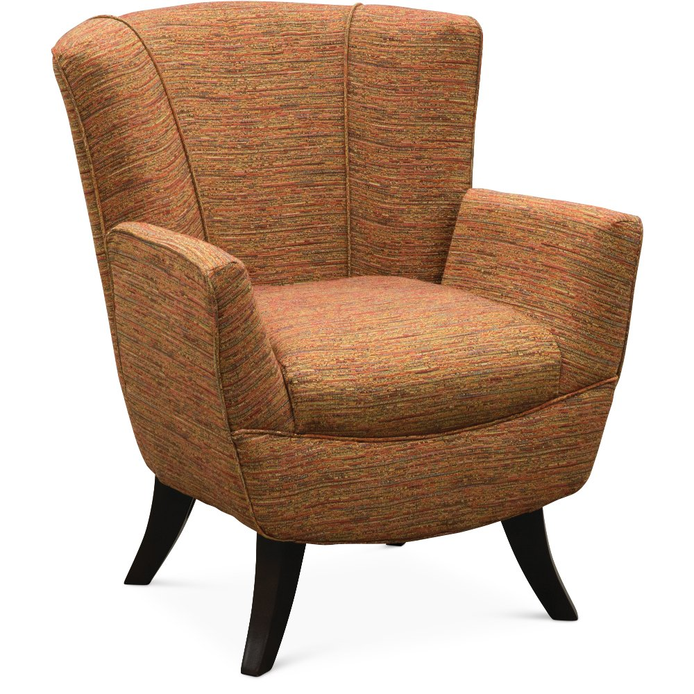 Best Transitional Red Orange Club Accent Chair Bethany In 400 x 300
