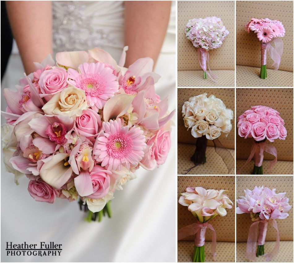 Gerber Daisy Bridesmaid Bouquets Wedding Bouquet Pink And White Inspiration