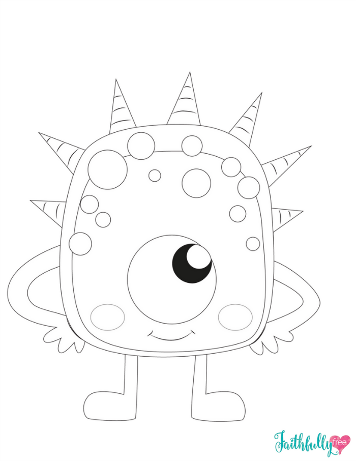 Monster Coloring Pages Free Printables Monster Coloring Pages