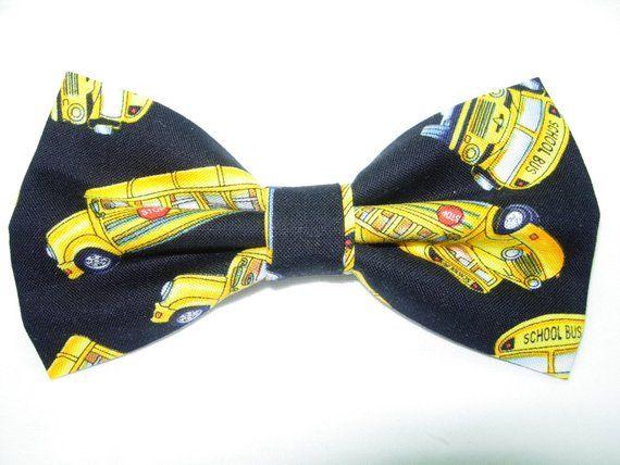 a07e5c11f School Bus Bow tie