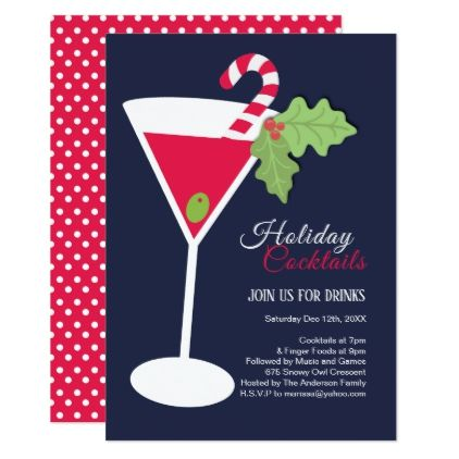 Christmas Cocktail Party Invitation