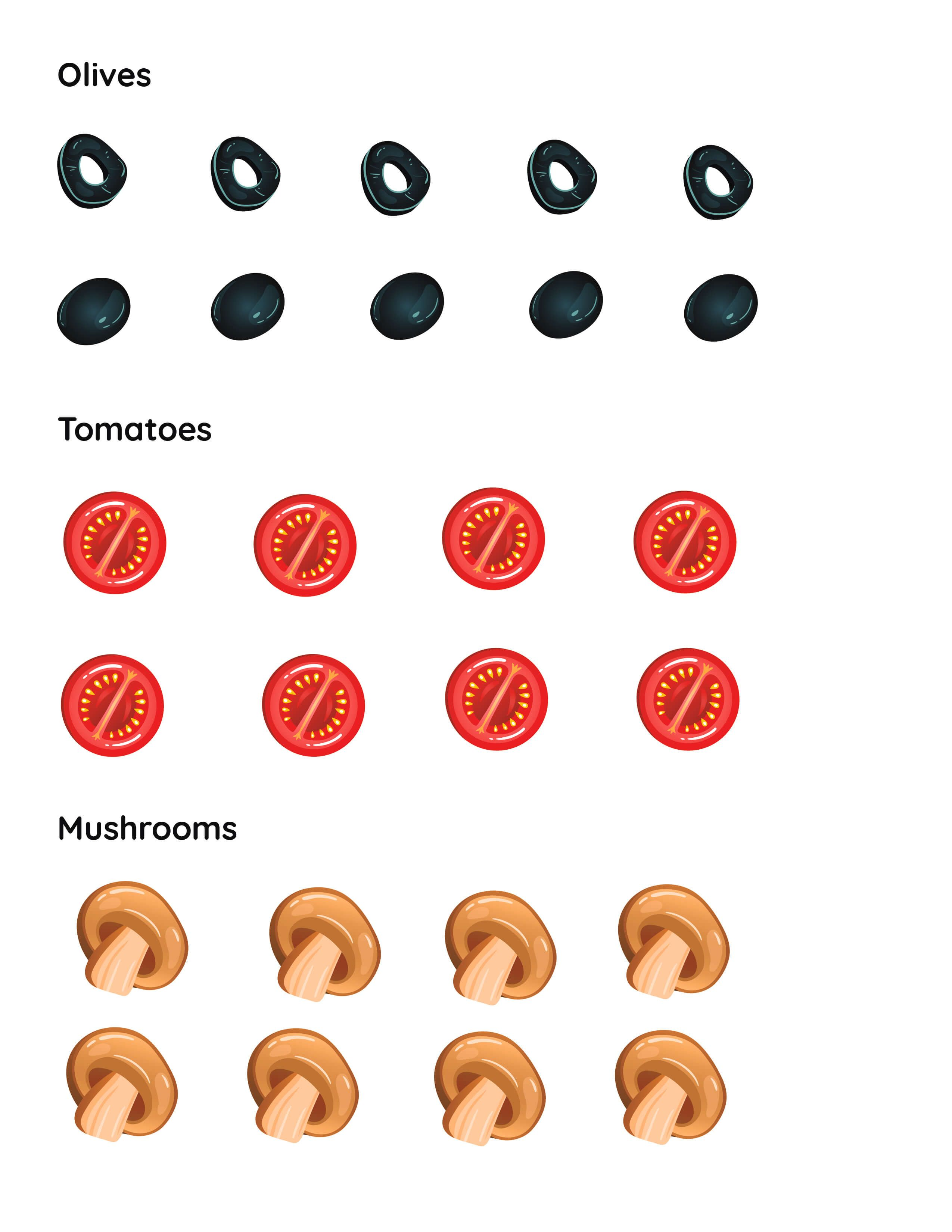 Make A Pizza Printable Pizza Toppings Cutouts Mrs Merry In 2021 How To Make Pizza Pizza Craft Pizza Toppings [ 3300 x 2550 Pixel ]