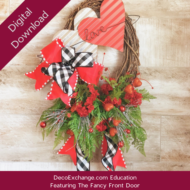 Photo of Valentines Asymmetrical Oval Grapevine Wreath Tutorial Featuring The Fancy Front…