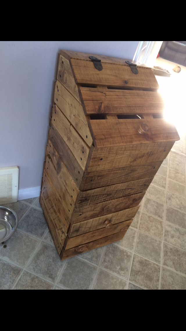 Potato And Onion Box Made From Pallet Wood Diy Pallet