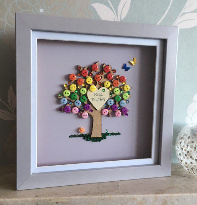 Best Teacher Tree, Rainbow Tree, Gifts For Teachers, Thank you Gift, Unique Teacher Gift, Tree theme Decor