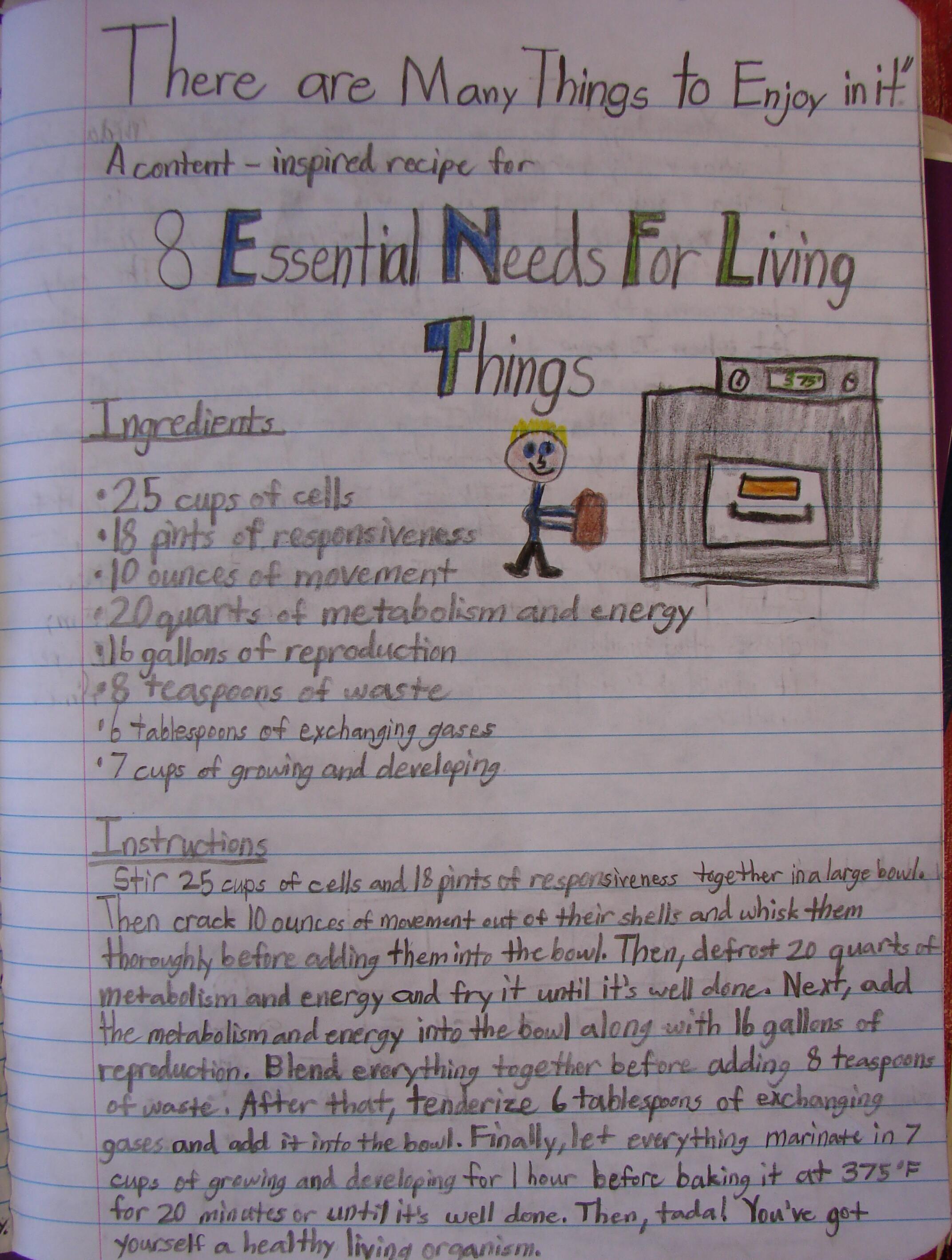 A Writer\'s Notebook idea: Writing across the curriculum.   Writer\'s ...