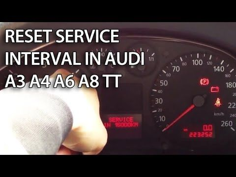 Reset service reminder indicator or inspection in your #Audi #A3 8L