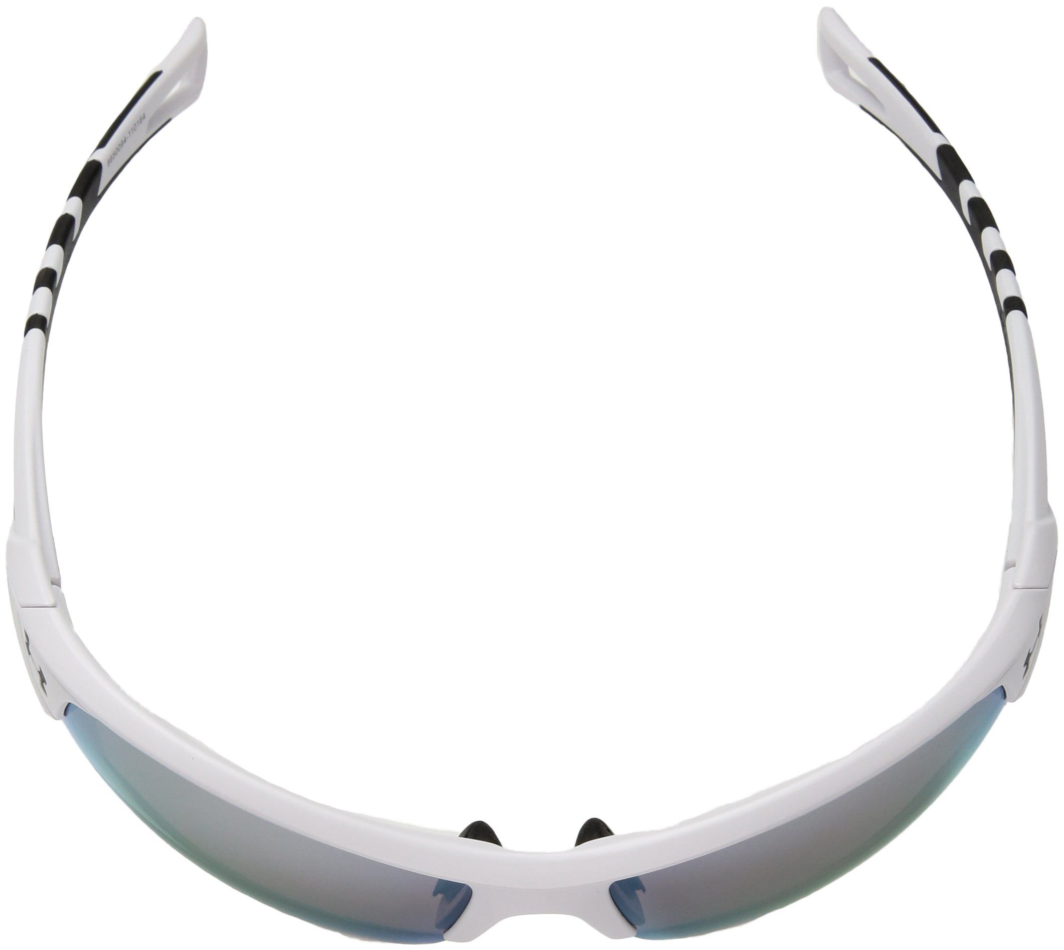 45091040218 Under Armour UA Octane Wrap Sunglasses UA Octane Satin White   Black Frame    Baseball Tuned