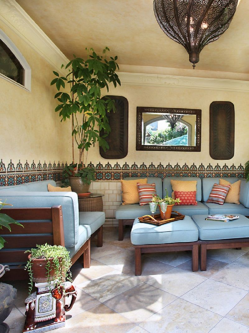 Moroccan Inspired Garden Patio