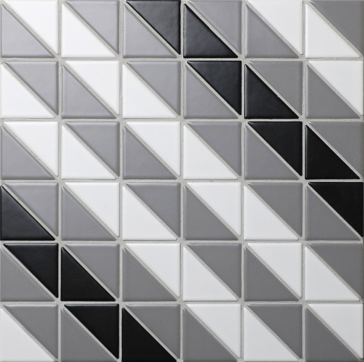 "Classic Diagonal 2"" Triangle Geometric Floor Tiles Sale, white, grey ..."