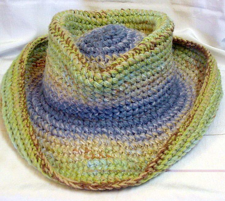 Crocheted Cowboy Hat By Spooner 4678 | Crochet cowboy hats