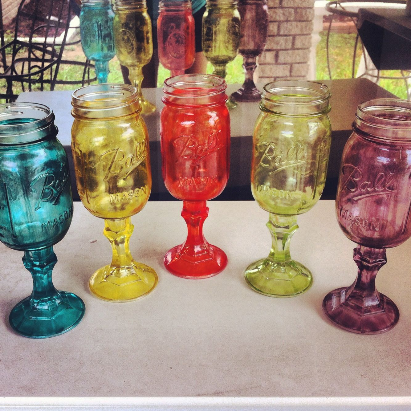 latest craft project mason jar candlestick holder glue