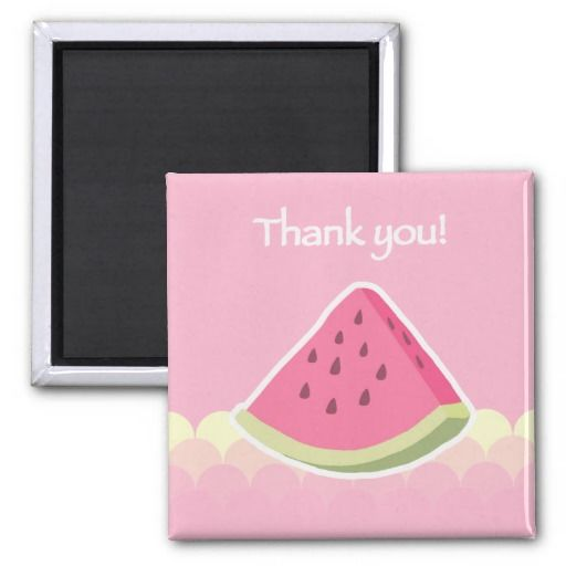 Thank You Watermelon Slice Magnets