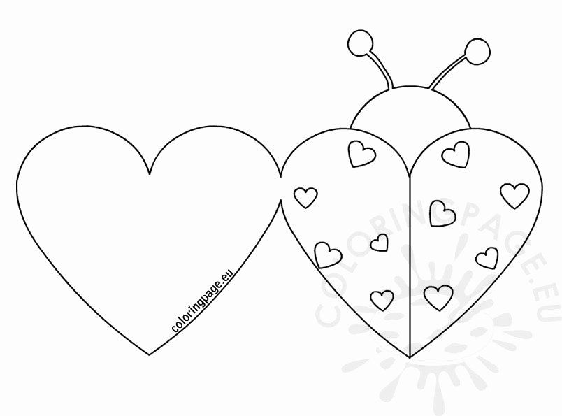 Printable Coloring Valentines Day Cards Beautiful Ladybug