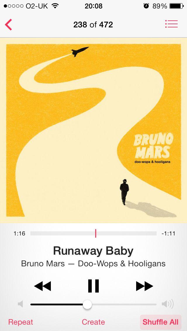 Runaway Baby Bruno Mars Music Pinterest Bruno Mars