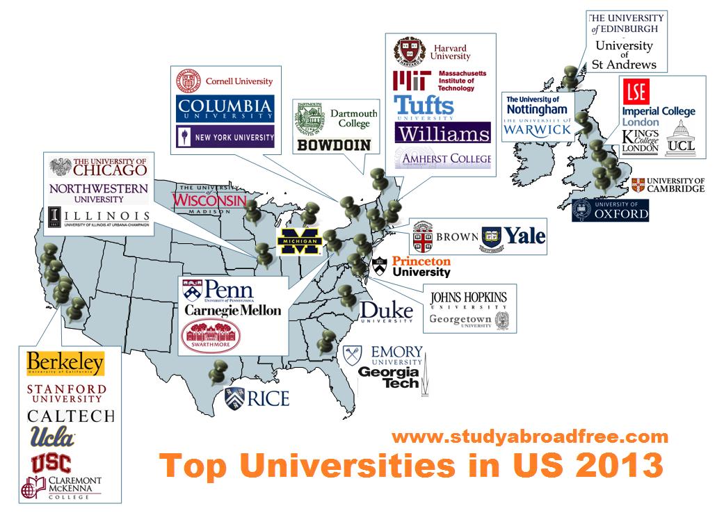 Top Universities In Usa >> Top Universities In Us 2013study Abroad Study Abroad University